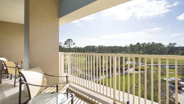Governor's Suite balcony with view of Bonnet Creek